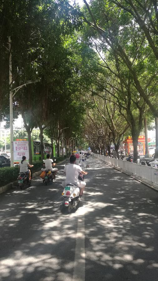 Beautiful China Nanning street scenery royalty free stock images