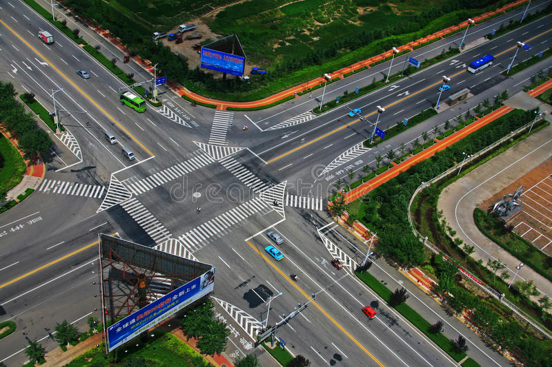 Download Open China City Intersection Editorial Photo - Image: 33209031