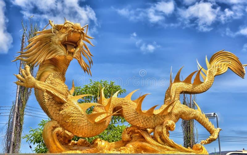 Beautiful Chinese dragons sculpture. Thailand, Pattaya, 27,06,2017nBeautiful Chinese dragons sculpture at Anek Kusala Sala Viharn Sien Chinese temple in Pattaya royalty free stock photos