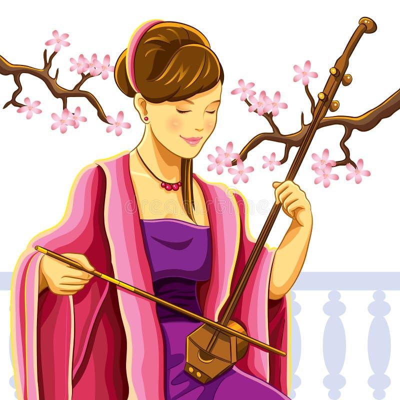 Free Beautiful Chinese Erhu Player Royalty Free Stock Photography - 22627947
