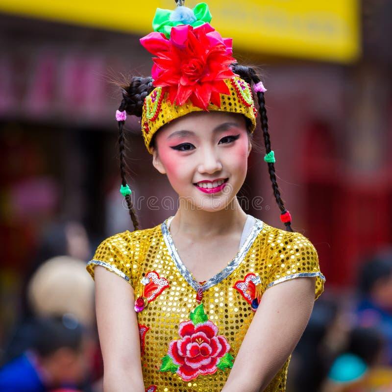 Beautiful Chinese girl royalty free stock photo