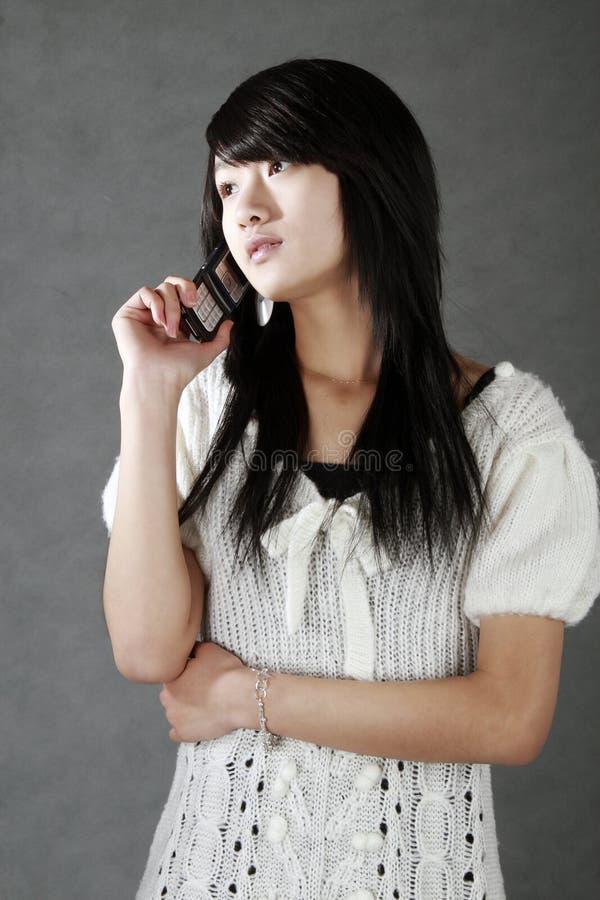 A beautiful Chinese girl. royalty free stock photo