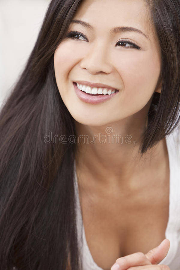 Download Beautiful Chinese Oriental Asian Woman Smiling Stock Image - Image: 21827011