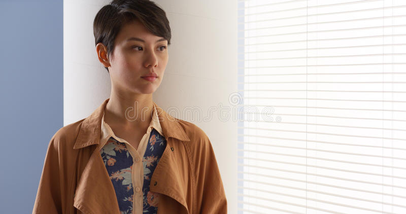 Beautiful Chinese woman wearing vintage clothes royalty free stock images