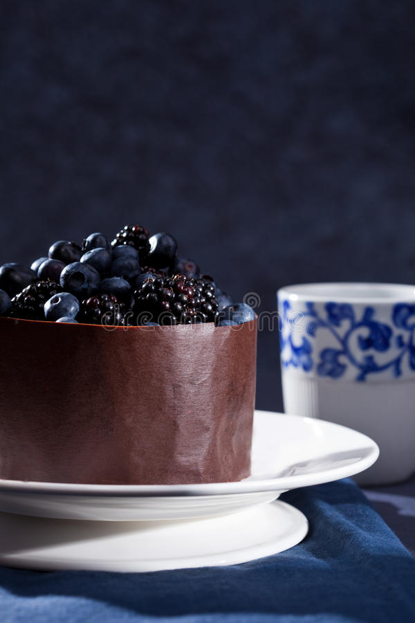 Download Beautiful chocolate cake stock image. Image of tart, fruit - 21768931