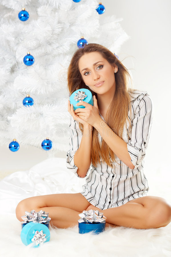 Download Beautiful Christmas stock photo. Image of happiness, people - 3820852