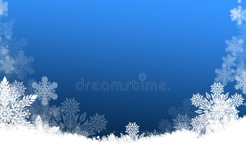 Beautiful Christmas background with snowflakes vector illustration