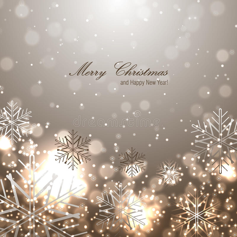 Beautiful christmas background with snowflakes royalty free illustration
