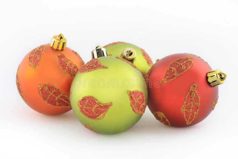 Beautiful Christmas balls stock images