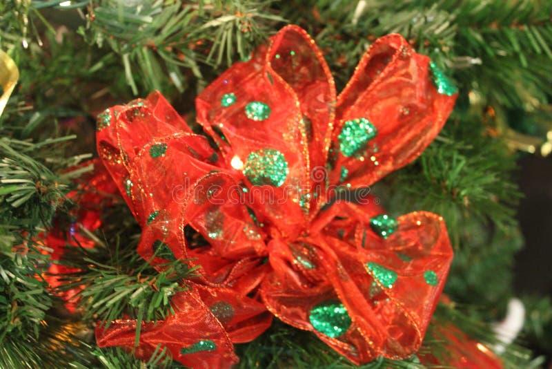 Beautiful christmas bow stock photo