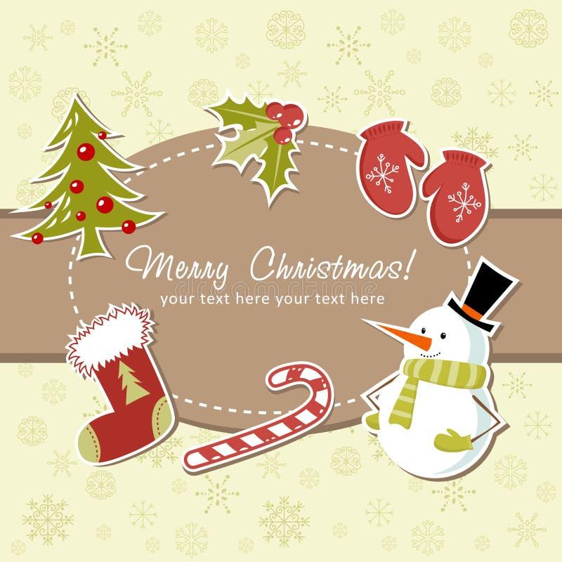 Download Beautiful Christmas card stock vector. Illustration of christmas - 22309028