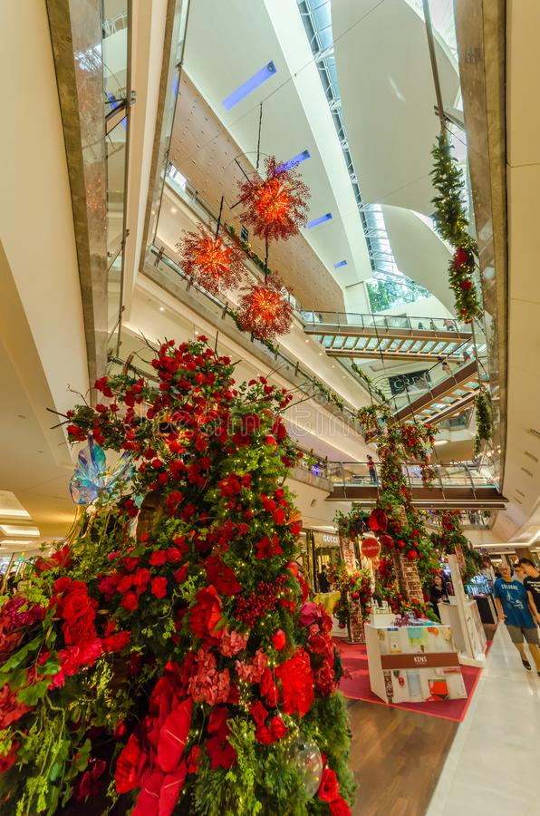 Beautiful Christmas decoration in The Gardens Mall. royalty free stock photos