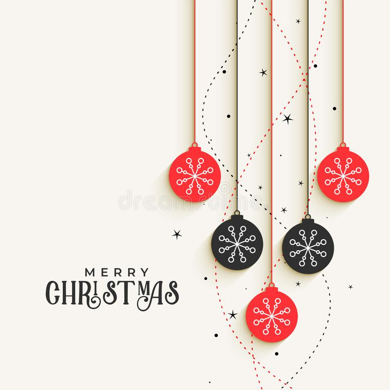 Beautiful christmas decorative balls greeting design. Vector vector illustration