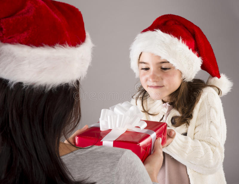 Beautiful christmas family royalty free stock images