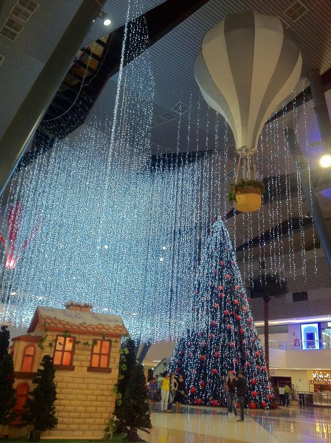 Beautiful Christmas lights stock photography