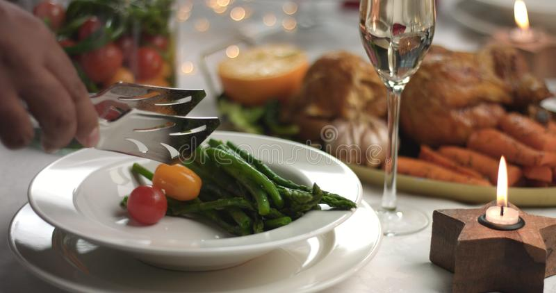 Beautiful Christmas New Year festive table stock images