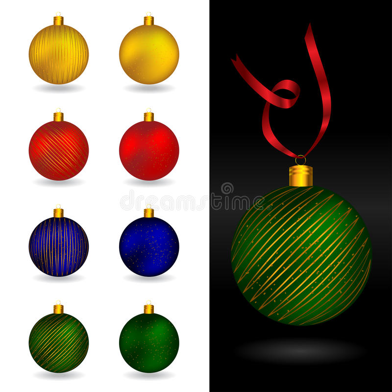 Free Beautiful Christmas Ornament Balls Royalty Free Stock Images - 16412129