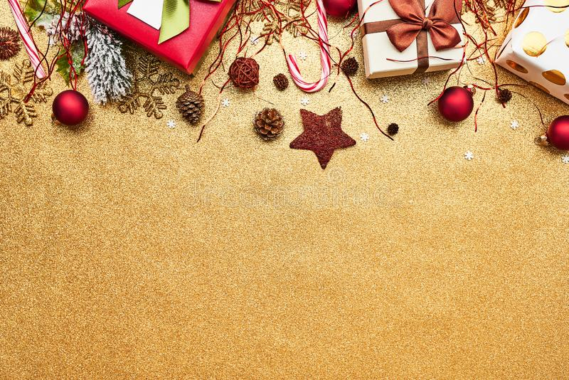 Christmas gifts background concept royalty free stock images