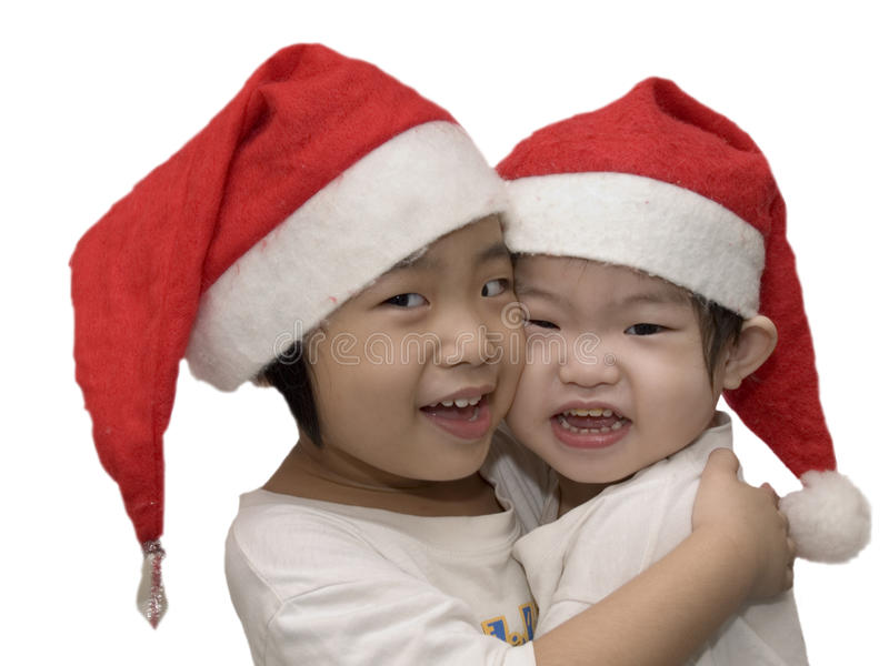 Beautiful Christmas Sisters royalty free stock photography