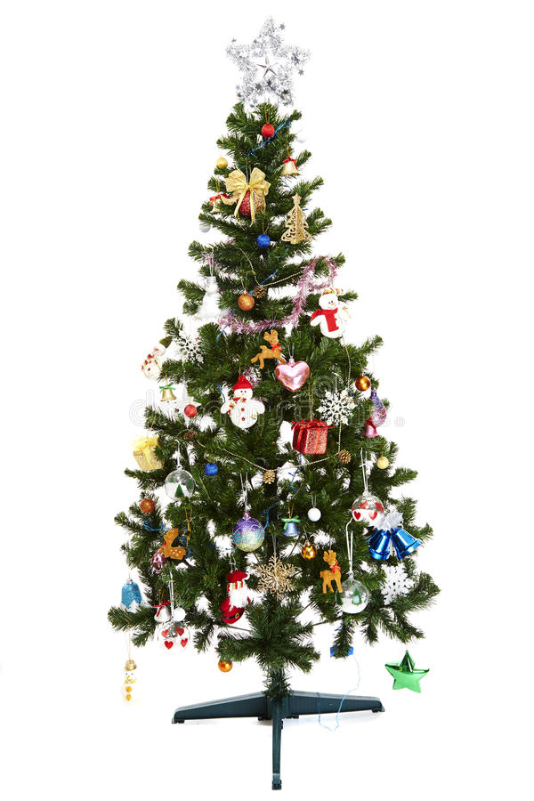 Download Beautiful Christmas Tree Isolated On White Background Stock Photo - Image: 36084160