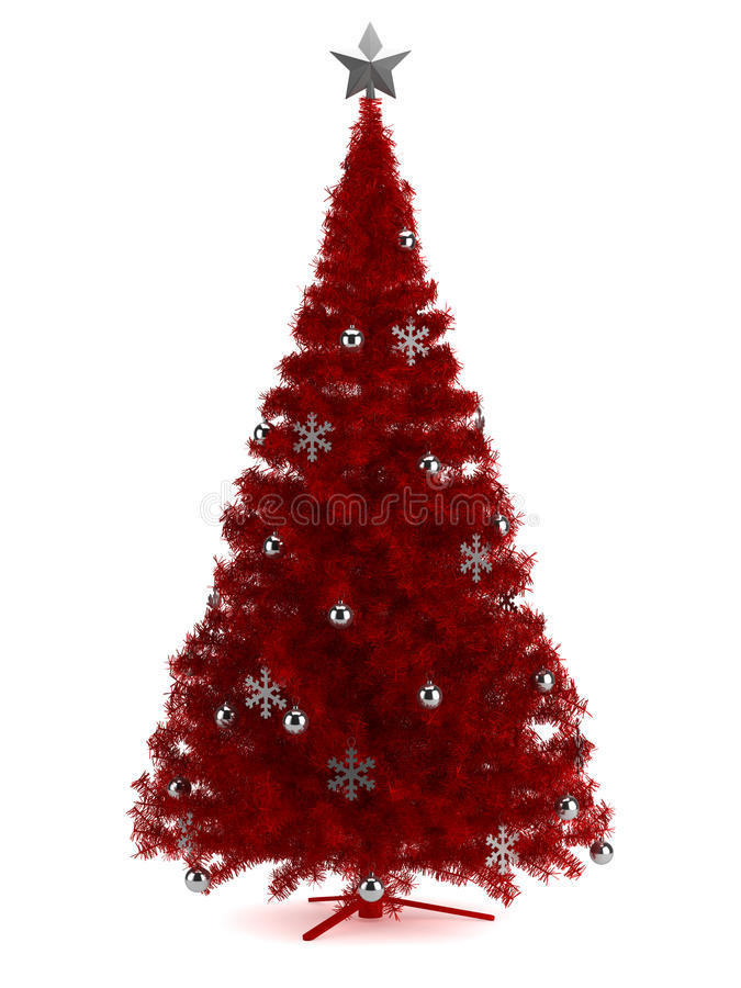 Download Beautiful Christmas Tree  On White Stock Illustration - Image: 33854364