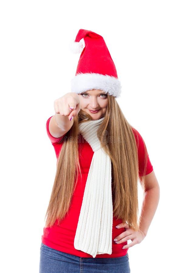 Download Beautiful Christmas woman stock photo. Image of laugh - 22283338