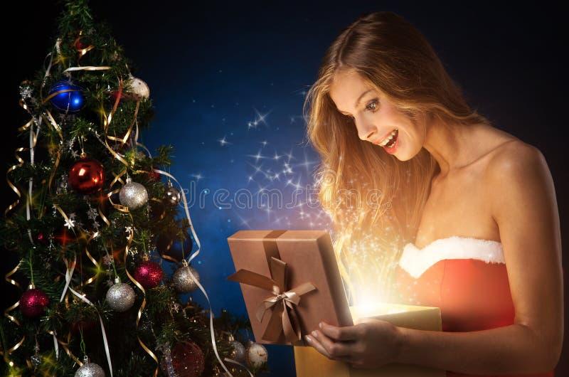 Download Beautiful christmas woman stock image. Image of happy - 22381841