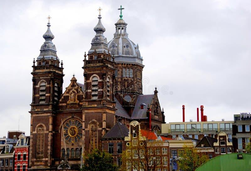Beautiful church Basilica of St. Nicholas, Amsterdam Netherlands royalty free stock image