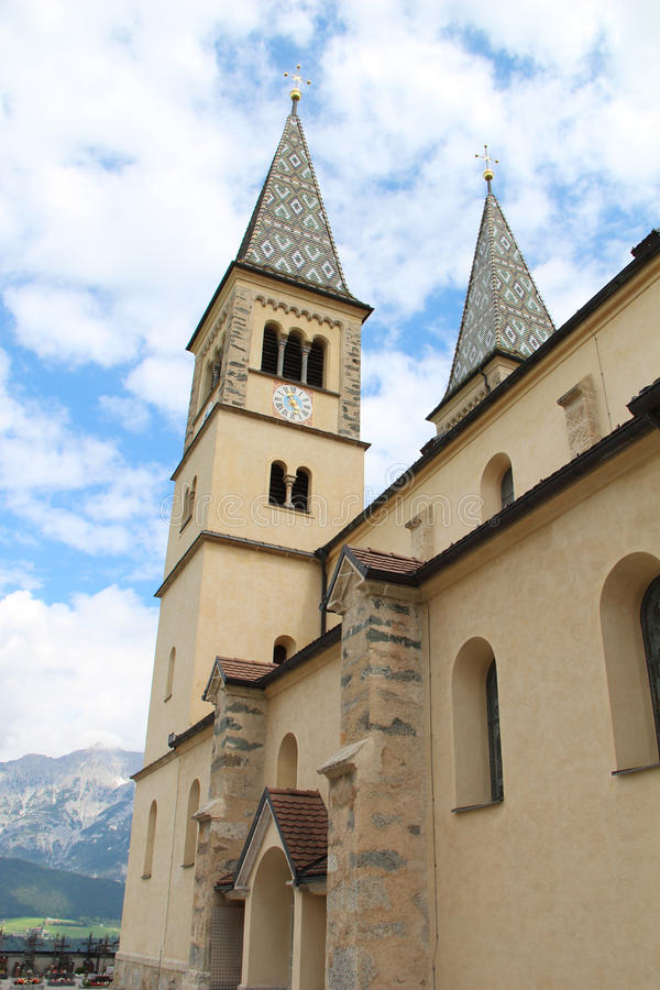 Beautiful Church in the Mountains royalty free stock image