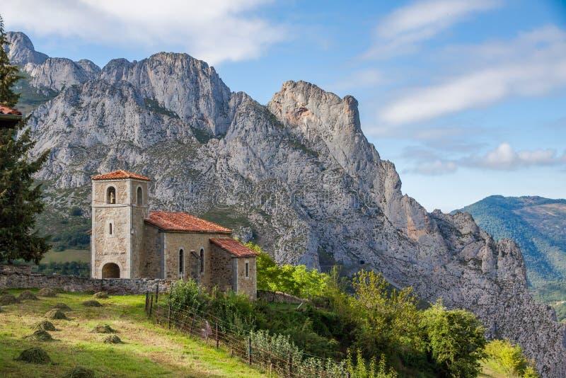 Beautiful mountain church in Spain royalty free stock photo