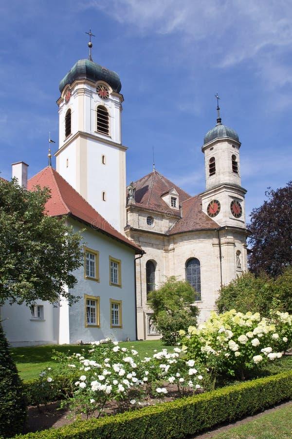 Church St. Catherine, village Wolfegg, Germany. Beautiful church St. Catherine in the village Wolfegg, Germany, Europe stock photography