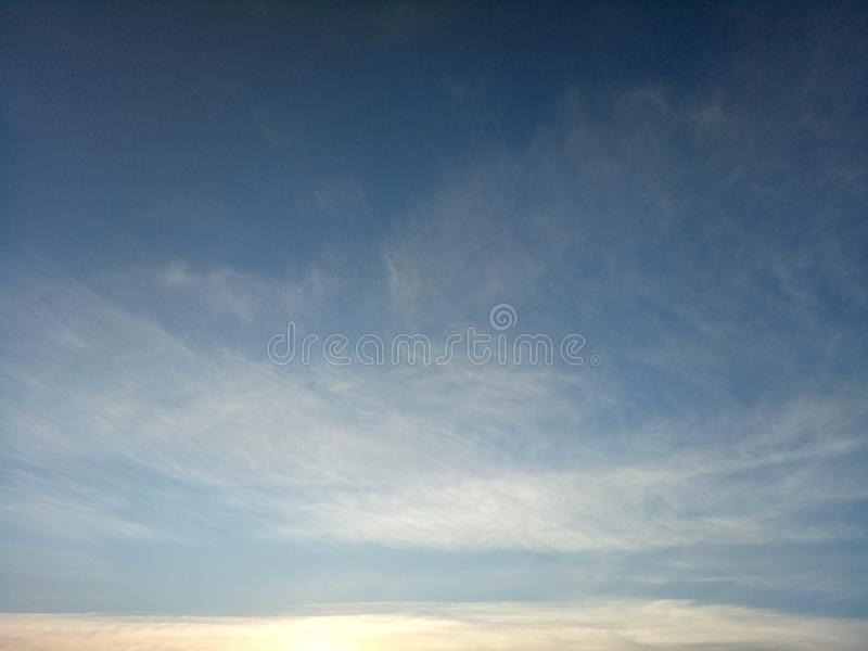 Beautiful Cirrus cloud in the sky royalty free stock image
