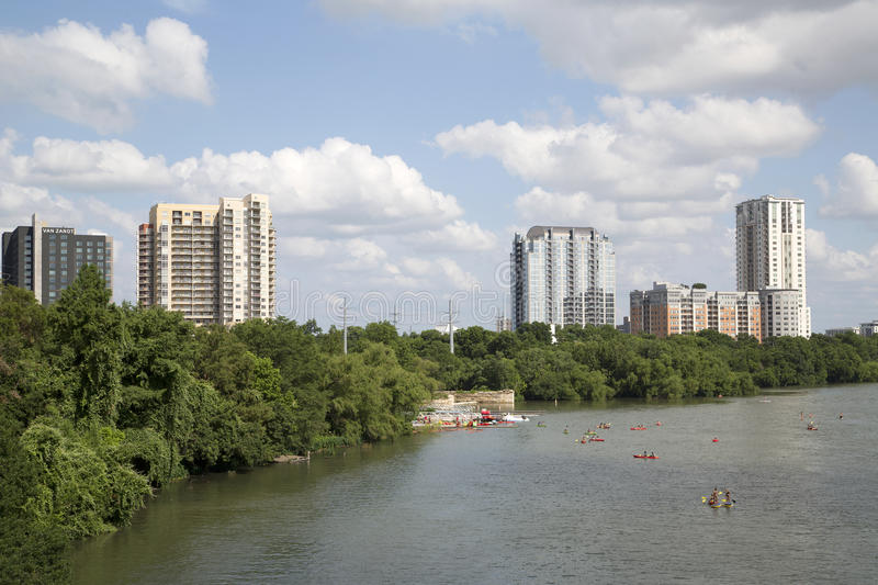 Beautiful city Austin royalty free stock images