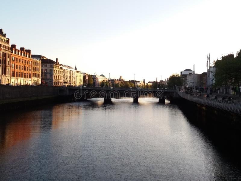 Beautiful city of dublin royalty free stock images