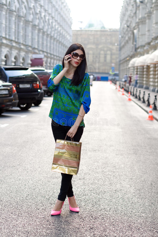 Beautiful city girl stock images