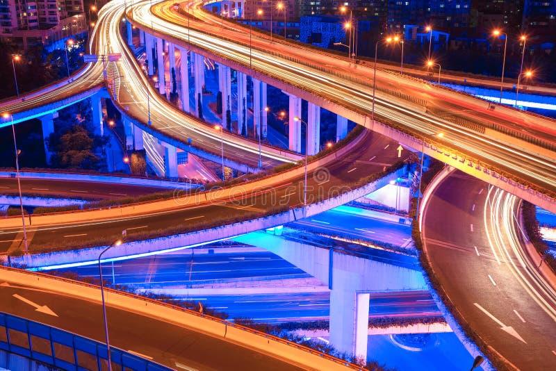 Beautiful city interchange overpass closeup stock photography