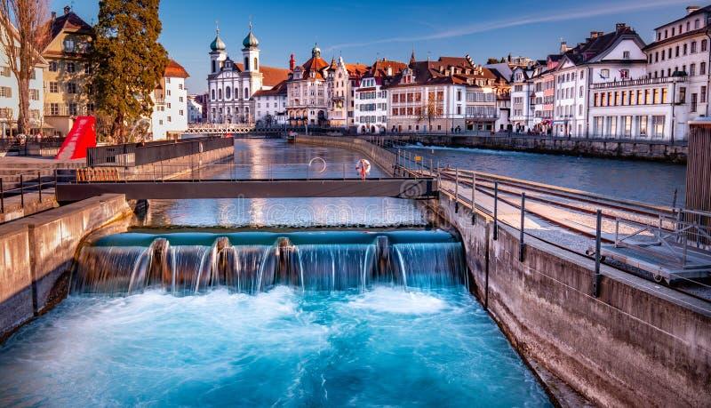 Lucerne Switzerland. The beautiful city of Lucerne Switzerland stock image