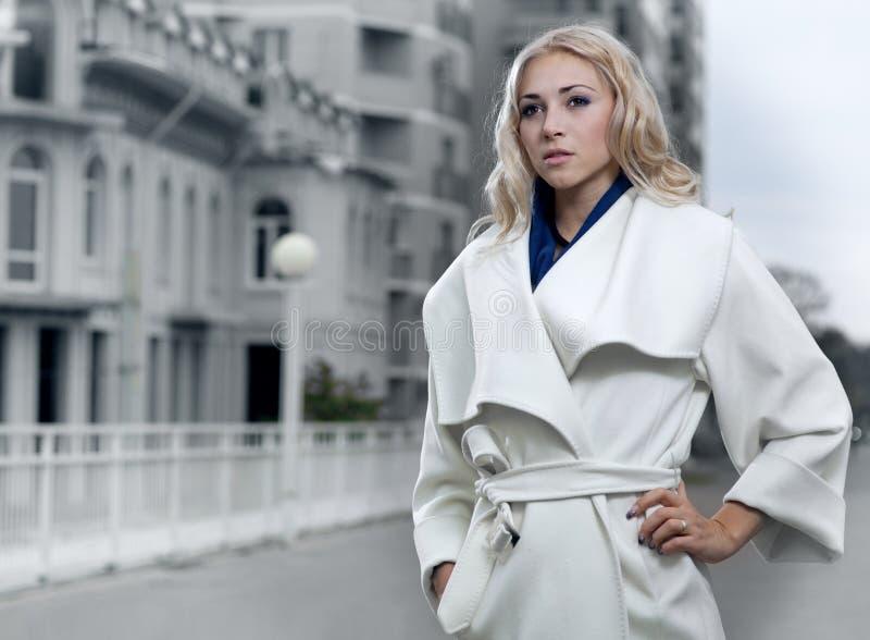 Beautiful city woman stock image