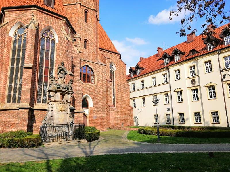 Beautiful city of Wrocł'aw, Silesia, Poland. stock photos