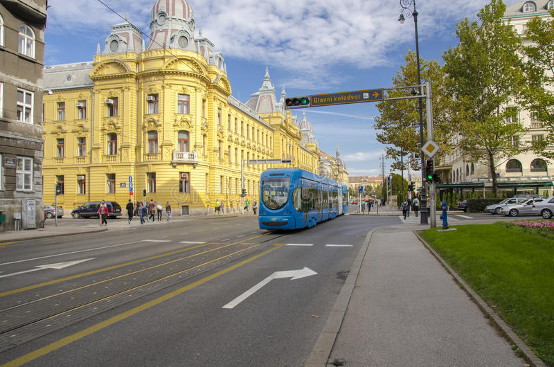 Download City of Zagreb, Croatia editorial stock image. Image of blue - 30117204