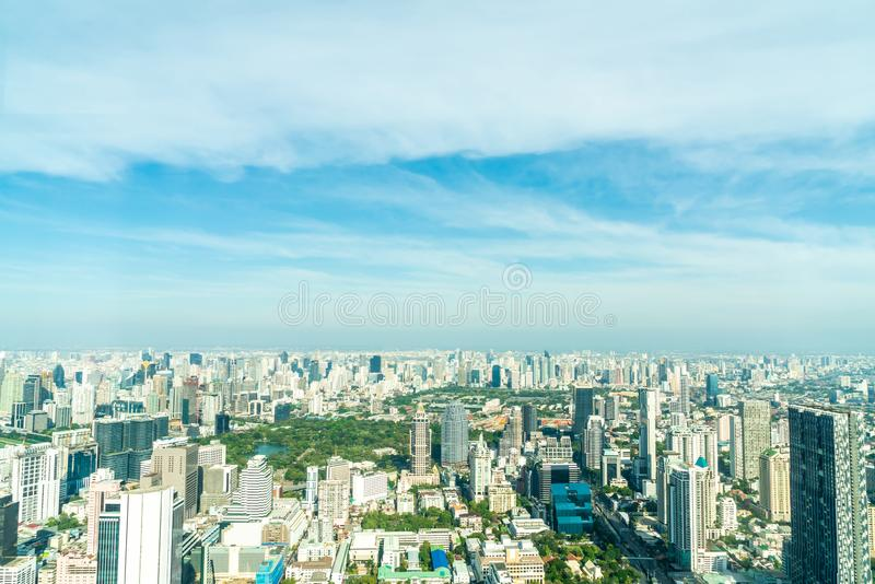 Beautiful cityscape with architecture and building in Bangkok Thailand. Skyline stock photo