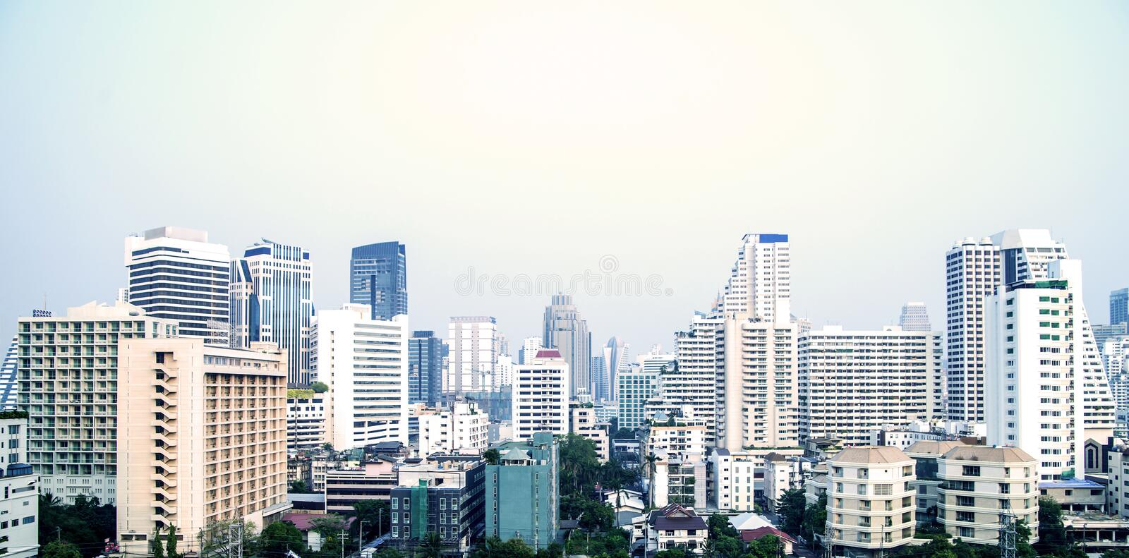 Beautiful cityscape of the Bankgkok city royalty free stock images