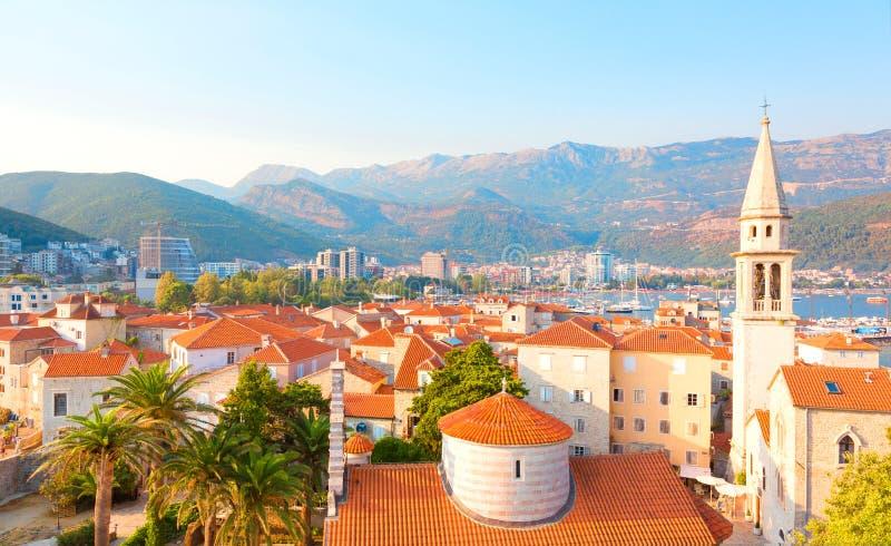 Beautiful cityscape of Budva, Montenegro royalty free stock image