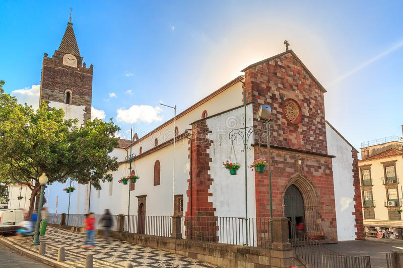 Madeira cathedral in summer royalty free stock images