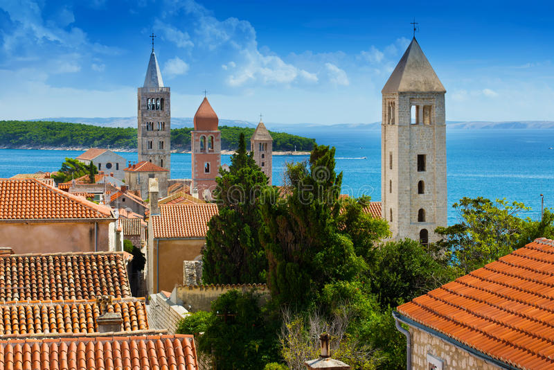 Beautiful cityscape of Croatia stock photos