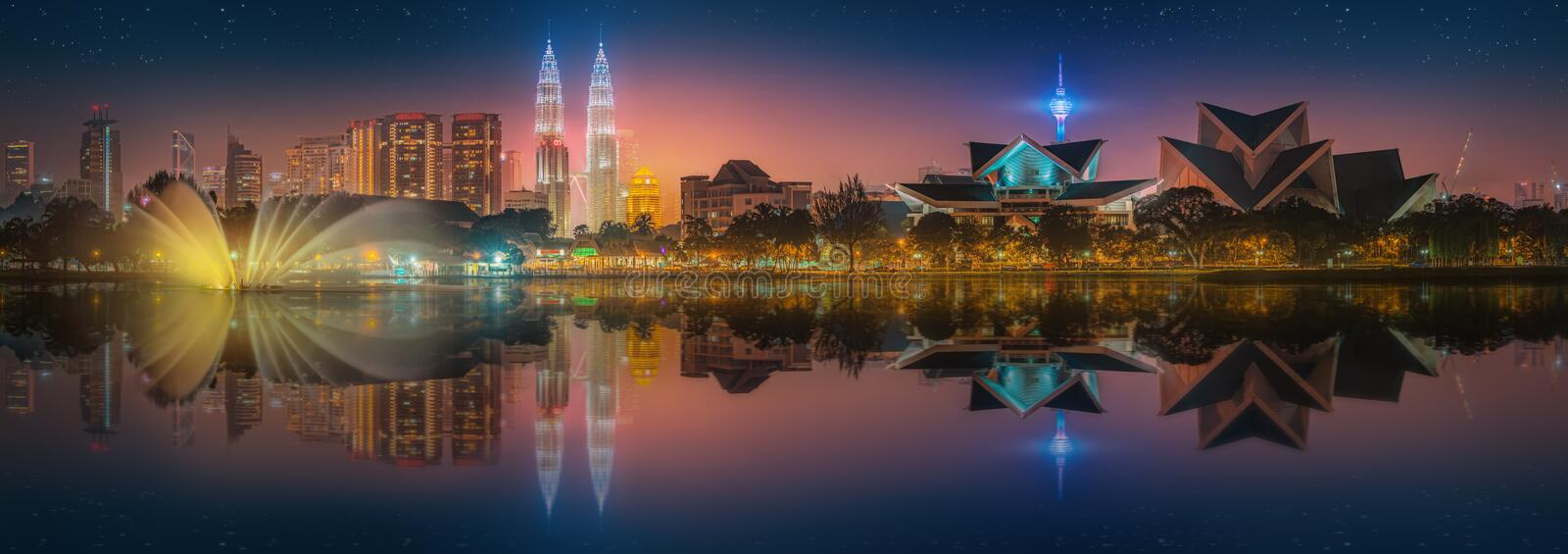 Download Beautiful Cityscape Of Kuala Lumpur Skyline Stock Image - Image of cloud, city: 62688253