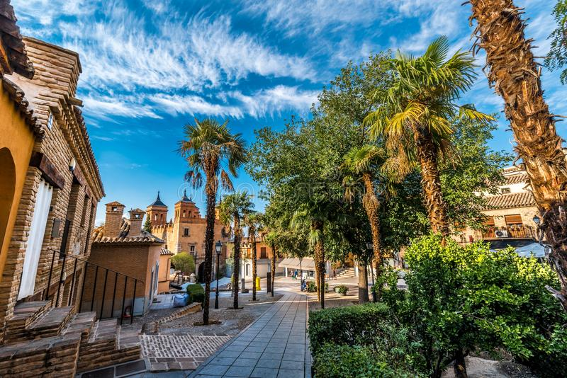 Toledo cityscape Spain in collors royalty free stock photos