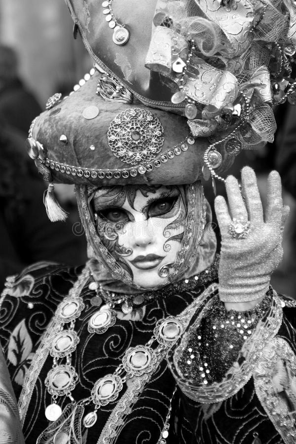 Beautiful clasical mask in Venice royalty free stock photo
