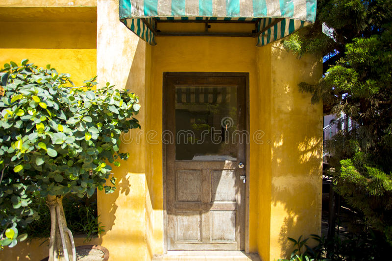 Beautiful classic house front door royalty free stock image