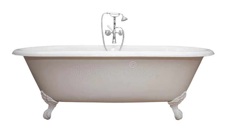 Antique Claw Foot Tub Isolated copy royalty free stock images